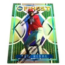 1995 Topps Finest Refractor Tom Henke Parallel Card #238 St. Louis Cardi... - $2.92