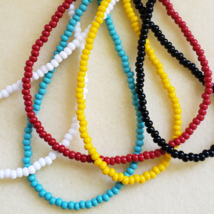 Handmade Single Strand Solid Color Seed Bead Necklace. Various Sizes and... - $9.67+