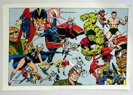 1970's Marvel Defenders poster:Hulk,Dr Strange,Sub-Mariner,Moon Knight,Daredevil - $39.59