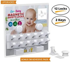 Eco-Baby Child Safety Magnetic Cabinet and Drawer Locks for Proofing Kit... - $30.09