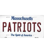 Patriots Massachusetts State Background Metal License Plate Tag (Patriots) - $11.35