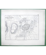 1848 Fine Quality Map - SPAIN Ciudad Rodrigo & Environs Fortifications - $16.20