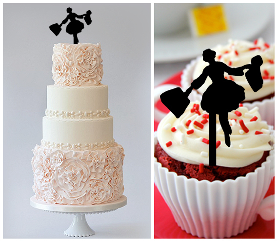 Ca230 Wedding,Birthday Cake topper,Cupcake topper, sound of music Package 11 pcs