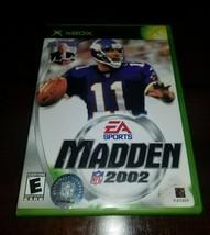 Madden NFL 2002 Microsoft Xbox EX **Inv03173** - $3.85
