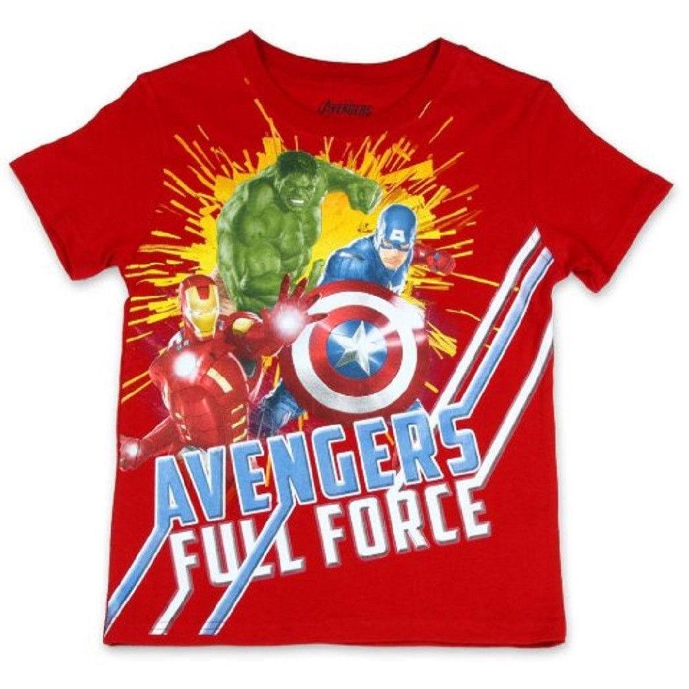 Boy's 8-18 Marvel Avengers Tee Shirt Full Force Short Sleeve Licensed T-Shirt