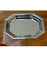 Jean Couzon France Mid Century Modern Stainless Steel Octagon Bowl - $29.69