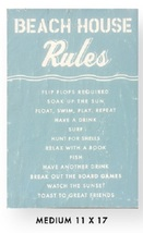 Beach House Rules Approx Size 11 x 17 Rustic Wooden  Beach Sign Item 3230 * - $37.00