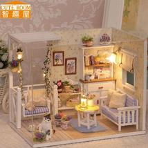 Assemble DIY Doll House Wooden Miniatura Doll Houses toys With Furniture... - $30.95