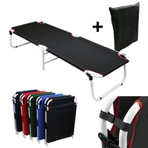 Camping Patio Portable Sleeping Folding Bed Cots Beach Pool Travel Sun+ ... - $32.69