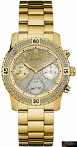 NEW! Guess Confetti Womens Gold Stainless Steel Bracelet W0774L5 Ladies Watch - £109.65 GBP