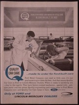 1964 Ford Motor Company Quality Car Care Dealer Print Ad - $7.99