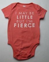 Infant Baby Girls 6-12 months Old Navy I Maybe Little But I'm Fierce Shirt - $3.00