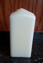 Ivory Vanilla 3x6 Inch Square Pillar Candle Partylite K0611 Holiday Wedding - $24.75