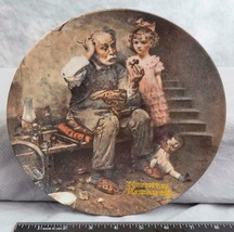 """Knowles Norman Rockwell Collectible Plate """"The Cobbler""""  jds - $9.89"""