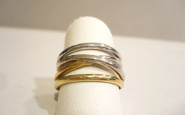 RING GOLD 18KT BAND BICOLOR - $425.80