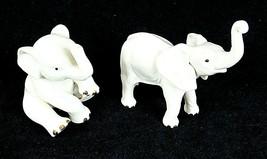 Lenox White Elephant Figurines Vintage 1 is Rare Lot of 2 Tender Moment ... - $59.39