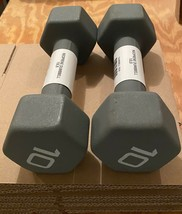 CAP Hex Neoprene 10 lb Pound Set of 2 Dumbbell Weights *FAST SHIPPING * - $46.95
