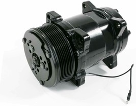 A-Team Performance Sanden 508 Style Clutch Serpentine A/C Compressor Black