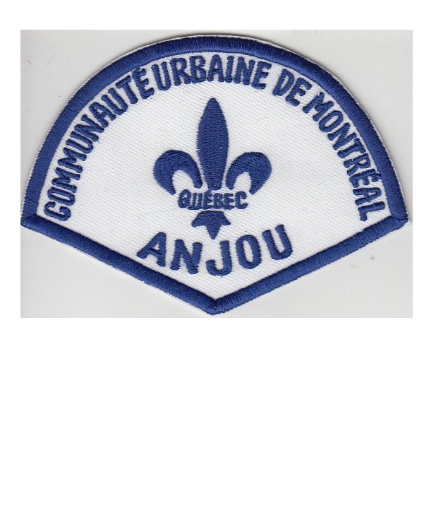 Montreal police department communaute urbaine anjou station retired patch 3.5 x 4.75 in 9.99
