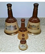 Lot 4 Empty Vintage Bell's Scotch Whisky Decanters by Wade Whiskey Bottles - $59.39