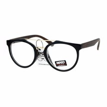 Retro Fashion Clear Lens Glasses Round Metal Top Bridge Eyeglasses Frame - $11.65