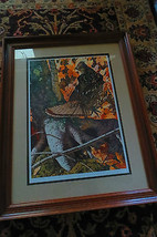 Stepping Out,By Brian Jarvi framed & artist signed print,1990 wildlife g... - $370.50