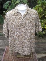 Hawaiian ALOHA shirt XL pit to pit 27 CARIBBEAN silk linen traditional f... - $14.65