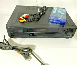 Sony SLV-740HF Video Cassette Recorder Vhs w/ Blank Tape & Av Cables - No Remote - $49.99