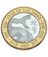 Carciofo Joe's Argento Casino Token in Ottone Lunetta Anno di The Snake - $1.242,39 MXN