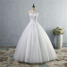 White Ivory Wedding Dresses for bride  Vintage plus size - $192.38