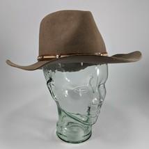 Tasn Fedora Dress Hat MonteCarlo Arizona III Wool Felt Western Fedora - $51.41