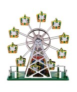 TIN TOY MUSICAL FERRIS WHEEL Wind Up Retro Litho Plays Somewhere Over Ra... - $39.95