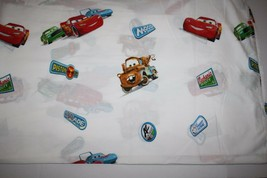 Disney Cars McQueen Mater Pixar Twin Flat Bed Sheet Movie Craft Material... - $14.48