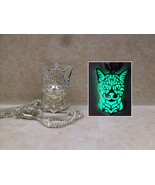 Cat GLOW IN THE DARK Kitty Silver Filigree Pendant Charm Necklace Bengal... - $15.00
