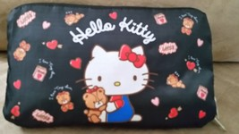 "Hello Kitty Reversable Bag Black Brand New Plush Pouch 17"" Japan Quality Toreba - $24.99"