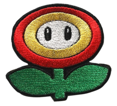 Fire Flower Mario Embroidered Patches Sew Iron On Badge Jacket Jeans App... - $2.88+