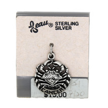 VINTAGE BEAU BEAUCRAFT STERLING SILVER HOROSCOPE CANCER CHARM - $14.31