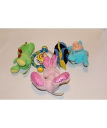 Baby Toy Lot kids Rattle Activity Plush Frog Fish Bunny - $7.97
