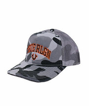 True Religion Men's Camo Varsity Logo Baseball Cap Sports Snapback Trucker Hat