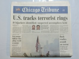 Chicago Tribune 2001 September 14 Terrorist Attack 9/11 America Bin Lade... - $39.99