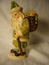 Vaillancourt Irish Santa with Basket of Luck Signed by Judi Vaillancourt image 1
