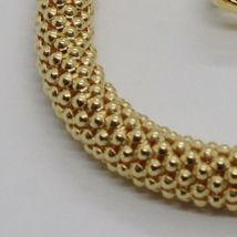 18K YELLOW GOLD BRACELET, 18.5 CM, 7.3 INCHES, BASKET WEAVE TUBE, 5 MM THICKNESS image 3