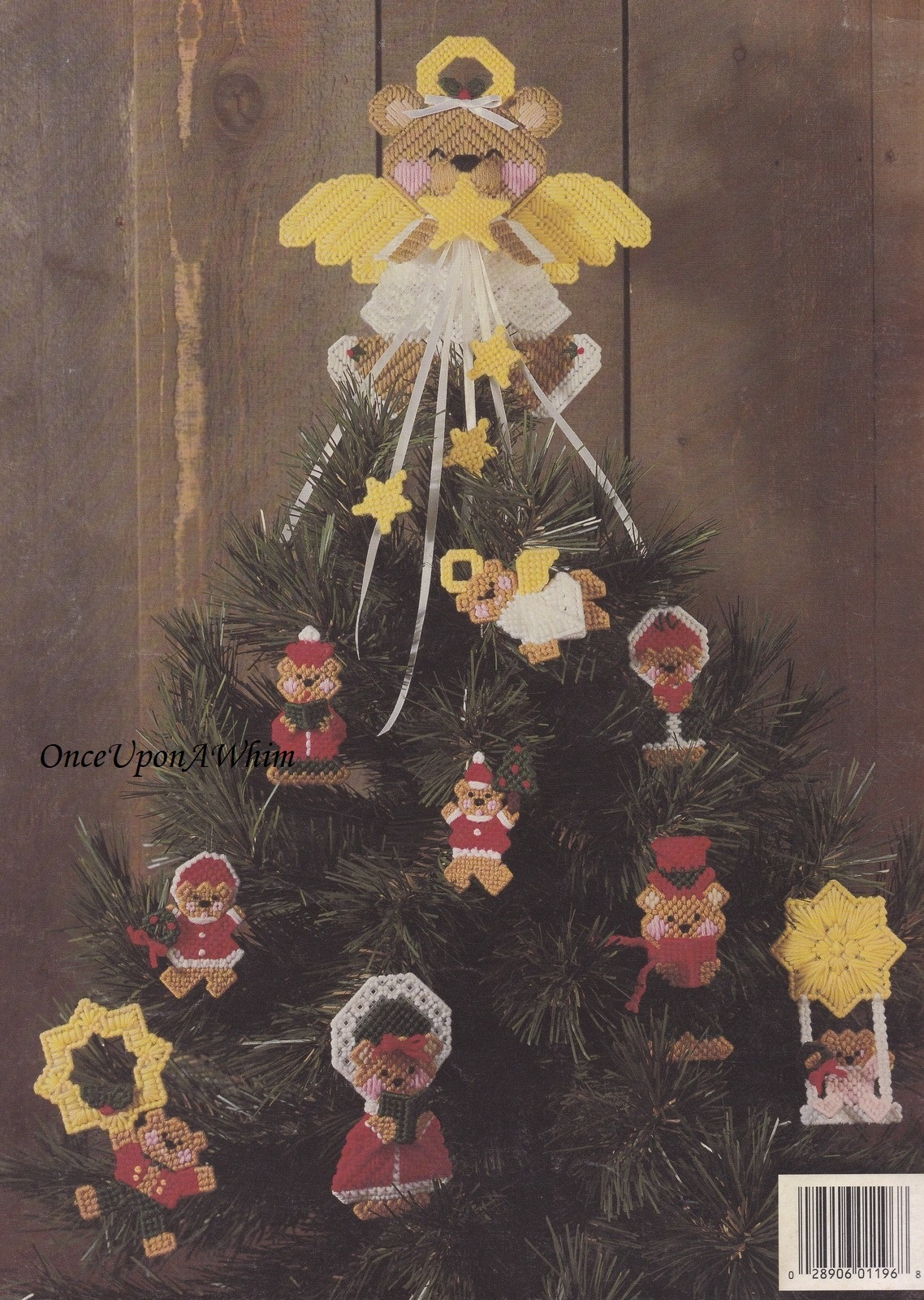 It's Bearly Christmas, Leisure Arts Plastic Canvas Pattern Booklet 1196