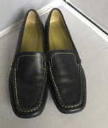 Coach Daisy Black/Green Leather Loafers Size 6.5 N(NARROW) - $39.55