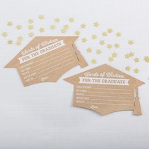 Graduation Advice Card - Cap Shape (Set of 50)  - $13.99