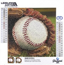 "Leisure Arts Sparkle Art Diamond Paint Kit 10.63""X10.63""-Baseball - $12.50"