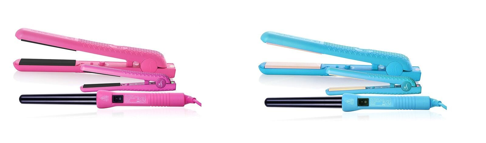 Primary image for Herstyler Colorful Hair Straightener, Curling Iron and Mini Flat Iron Full Set
