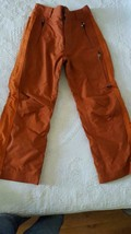 ALT 3 OBERMEYER ORANGE RUST SKI SNOWBOARD SNOW PANTS YOUTH JR SZ 14, EWS... - $22.71