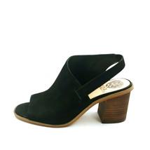 Vince Camuto Womans Kailsy Suede High Heel Sling Back Sandals Black 9M EUR 40  - $39.59