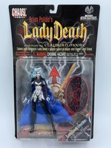 CHAOS COMICS LADY DEATH CHROME ACTION FIGURE BRIAN PULIDO NIP 1997 MOORE - $19.79